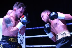 Action from Nathan Reeve's bout with Craig Derbyshire at The Deco in 2017