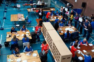 Counting is underway at the Seven Towers Leisure Centre in Balllymena.
