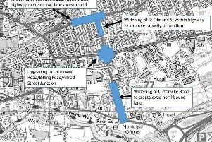 The Cliftonville Road scheme has three separate parts