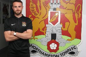Matty Warburton has signed a two-year contract at the Cobblers (Picture: Pete Norton)