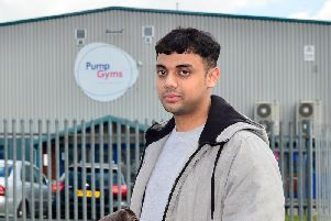 Mohammed, 17, usually hits the gym between the quieter hours at night where the incident took place.