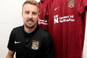 New Cobblers signing Chris Lines (Picture: Pete Norton)