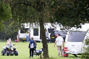 Travellers at Eastfield Park in 2017