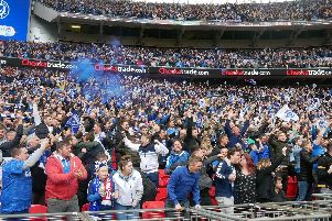 The highest attendance for a Football League Trophy final - 85,021 - were present for March's Checkatrade Trophy clash between Pompey and Sunderland. Picture: Habibur Rahman