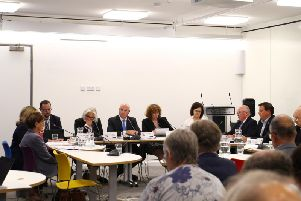 The county council cabinet meets monthly at One Angel Square