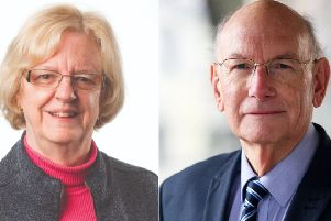 New council leader Eileen Lintill and former leader Tony Dignum