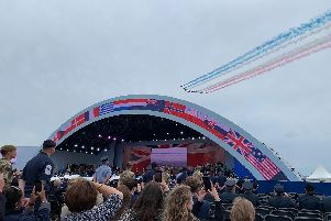 Red Arrows flypast over Southsea Common for D-Day 75