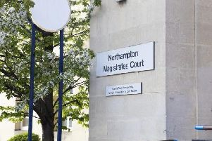 The three men appeared at Northampton Magistrates Court today (Friday)