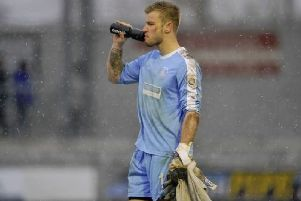 Keeper Laurie Walker, who made more than 170 appearances for Hemel across two spells at the club, has put in a transfer request. (File picture).