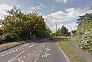 The crash happened on Providence Hill, A27. Picture: Google Maps