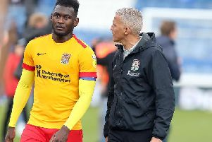 Aaron Pierre and Keith Curle (Picture: Pete Norton)