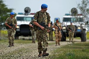 Soldiers from Princess of Wales Royal Regiment on overseas deployment with the UN in Cyprus. Photo: MoD