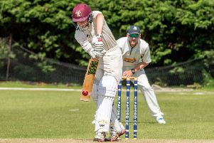 George Gregory in bat for Alford at Sleaford. Photo: John Aron.