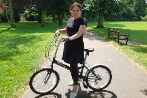 Cllr Rufia Ashraf wants there to be more cycle lanes in Northampton. Photo: Northampton Labour Party
