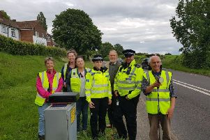 Volunteers for the community speedwatch scheme with Chichester prevention officers. Photo: Chichester Police/Twitter