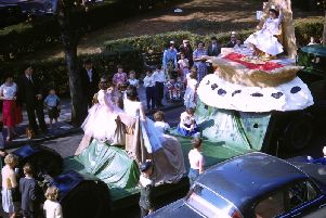 One of the Rag Week carnival parade floats in 1959, taken by Jim Groucott from the flat in Regent Street where he lived at that time
