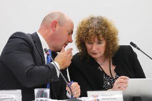 Theresa Grant and council leader Matt Golby addressed the issue of the projected overspend at this week's cabinet meeting