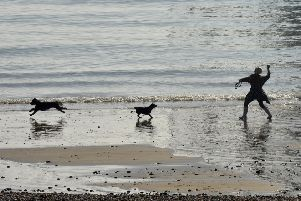 Exercise on Eastbourne Seafront (Photo by Jon Rigby) SUS-190313-124935003