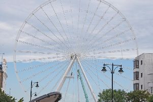 The Worthing Wheel on the seafront is complete. Picture: Eddie Mitchell
