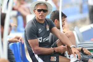 Keith Curle watched his Cobblers side draw 1-1 with Coventry City in Spain (Picture: Pete Norton)