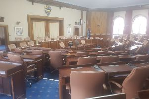 West Sussex County Council's council chamber