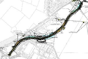 A layout of the new A43 Moulton bypass