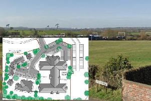 The rights to build a 72-bed care home near Long Buckby has gone on the market.