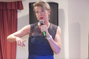 Katie Hopkins at Eastbourne's Afton Hotel SUS-190716-154957001