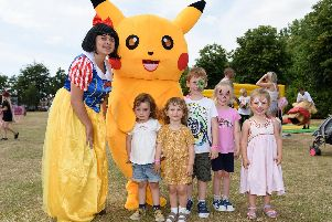 A free family fun day is being held in Walpole Park to raise money for Pegs Youth Crew, a dance group supported by the Reilly Enterprise - With Snow White and Pikachu (L-R) Ruby Smith (3yrs), Etta Newell (2yrs), Henry Bloor (5yrs), Lola Mattin (5yrs), Olivia Bloor (3yrs). Picture: Duncan Shepherd