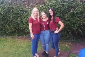 Karen Hodson, Abbey Powell and Laura Hodson.