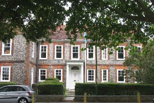 The Hall in Southwick, bearer of two blue plaques