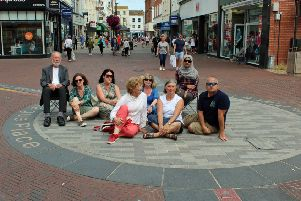 Labour councillors after their call for more benches in the centre of Worthing was rejected by Tory-controlled Worthing Borough Council