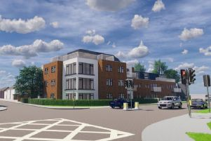 Artist's impression of what the new flats could look like