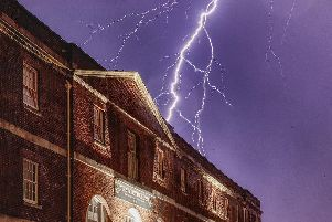Lightning above The Victualler in Gosport. Picture: Martin Urch