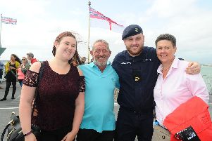 Lauren Townsend, left, with her dad John, brother Jake and mum Nicola Young.'Picture: Sarah Standing (090819-2903)