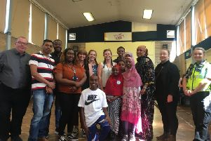 Some of the many people involved with the Northampton Community Safety Partnership One Stop Shop at Springs Family Centre