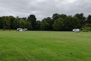 All but three caravans have now left Horsham Park