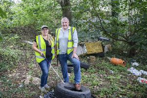 The Chronicle & Echo payed Wendy and Ian a visit on Friday where more rubbish has been dumped down Lower Ecton Lane. Picture by Kirsty Edmonds.