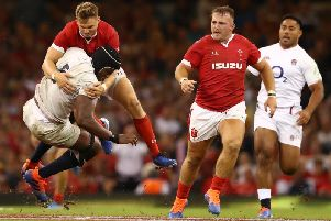 Dan Biggar made a huge hit on Maro Itoje during a man-of-the-match display
