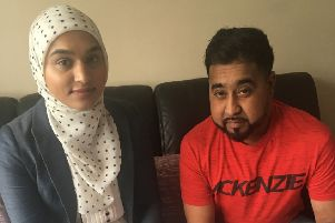 Gulfraz Ahmed and Aisha Noor (his lawyer last year)
