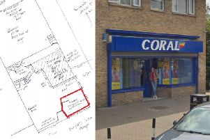 The empty Coral betting shop in Newnham road could become a beauty salon - with an ice cream kiosk out front.