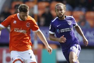 Marcus Harness limped off against Blackpool. Picture: Paul Thompson/ProSportsImages