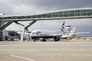 British Airways has cancelled nearly 100 per cent of its flights. Picture: Gatwick Airport