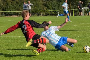 Action from Central Ajax's Les James Challenge Cup clash at home to Coventry Plumbing. Pictures: Lou Smith