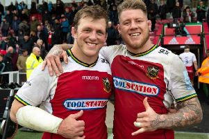 Alex Waller and Teimana Harrison will be co-captains at Saints this season (picture: Northampton Saints)