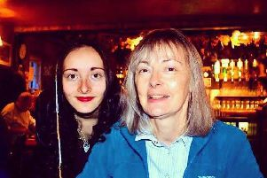 Annie Slinn (left) with her late mother Judith. Photo: Brain Tumour Research