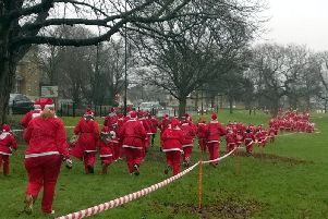 Northampton Charity Santa Fun Run. Photo courtesy of the rotary clubs of Northampton