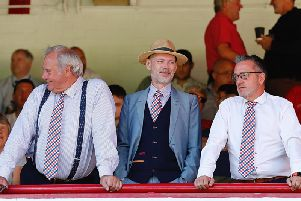 Luton Town's directors watch on at Barnsley recently