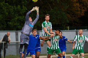 Chi City in earlier home action against Faversham / Picture by Neil Holmes