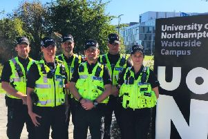 The University of Northampton police team at Waterside campus